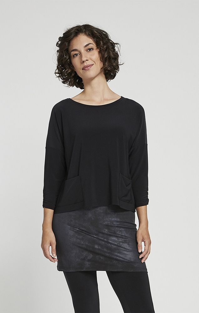 Sympli Womens Spark Boxy Top Style 22205-2, 5 Colors Available