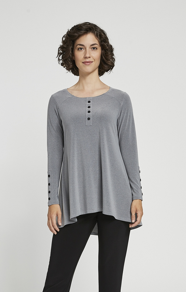 Sympli Icon Henley Top Style 22219Z-3, Long Sleeves, 3 Colors Available