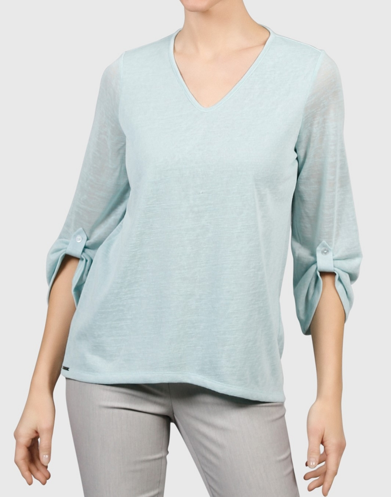 Lisette L Tops Style 231236 Linen Look Knit, 6 Colors Available