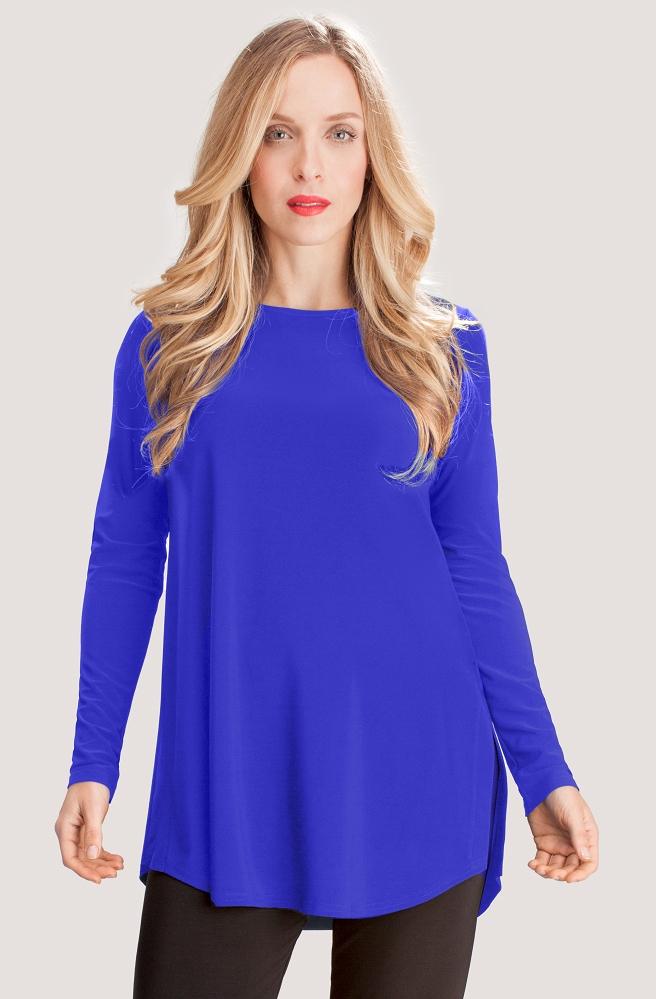 Sympli Ideal Go To Classic Tunic Long Sleeves Style 2382-3, 9 Colors Available