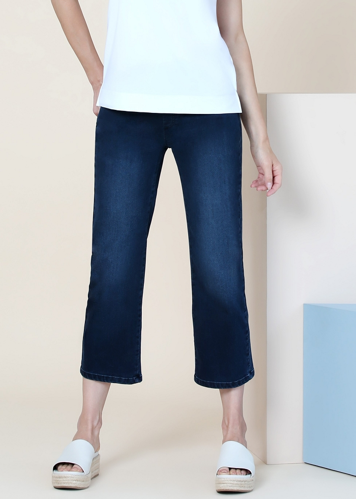 Lisette L. Gaucho Jeans Style 541695 Bryanna Denim Color Denim Blue