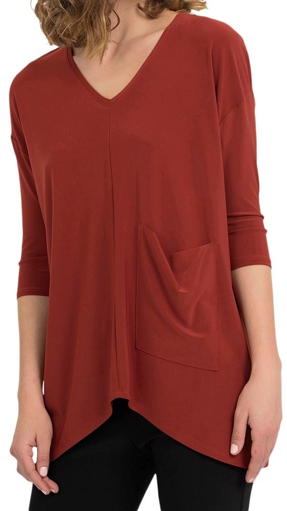 Joseph Ribkoff Womens Top Style 194108 Color Sunset Orange