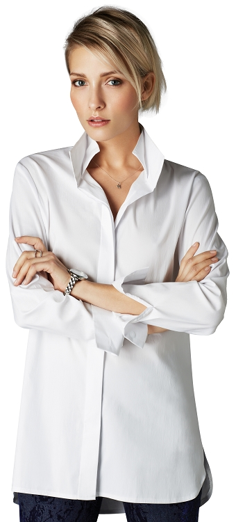 Lisette L Essentials Tops Style 26205 Adele Blouse Color White