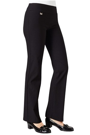 "Lisette L Essentials, Mini Boot Cut Pants, Kathryn PDR, Style 17630, Inseam 33"", Leg Opening 9 3/4"" (7 Colors Available)"