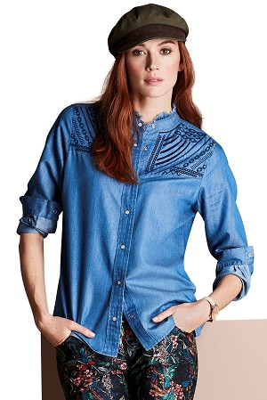 Lisette L Blouse Style 463228 Taylor Blouse Color Denim Blue