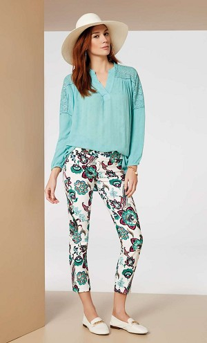 Lisette L. Thinny Crop Pant Style 50502 San Paolo Paisley Print Print Color Multi