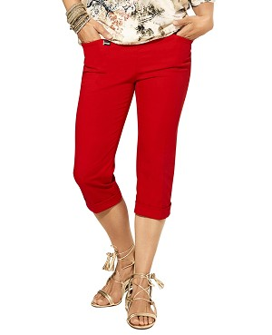 Lisette L. Essentials, Cuffed Capri Pants Style 26079 Jupiter Cotton Stretch, 2 Colors Available