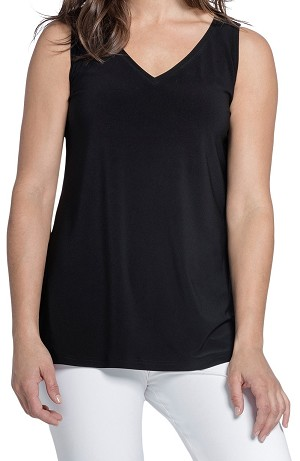 Sympli Womens Go to V-Neck Tank Top Style 21154, Color Black