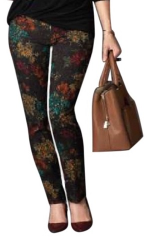 Lisette L. Slim Ankle Pants Style 12701 Damask Pattern Color Black