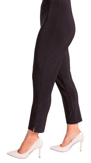"Sympli Narrow Pants Short Style 2748S, 25"" Inseam, Color Black"